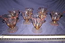 VINTAGE AMBER GLASSWARE (8)