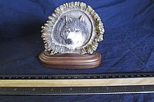 WOLF DESK PLAQUE
