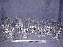 CRYSTAL WATER GOBLETS (8)