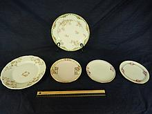 ASSORTED CHINA DISHES (5) HAVALAND, KPM HAS CHIP, BAVARIA, NIPPON, REST ARE IN GOOD CONDITION