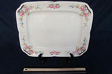 KNOWLES CHINA PLATTER 13 1/2' WIDE, SOME CRAZING