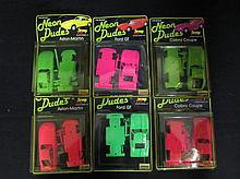 NEON DUDES PLASTIC MODEL KITS (6) ORIGINAL PACKAGING(2) ASHTON MARTIN KITS(2) COBRA COUPE KITS(2) FORD GT KITS