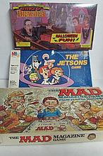 VINTAGE BOARD GAMES (3) THE JETSONS GAMEREVENGE OF DRACULATHE MAD MAGAZINE GAME