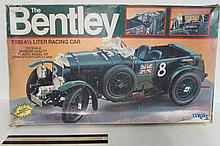 THE BENTLEY MODEL CAR KIT 1930 4 1/2 LITER RACING CAR 1/12 SCALE MUSEUM QUALITY PLASTIC MODEL KITOVER 18 IN LONG