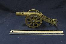 BRASS TOY CANNON 11 INCHES LONG