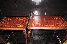 PAIR OF FRENCH INLAID OCCASIONAL TABLES