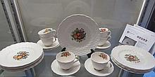 COPELAND SPODE TULIP NO. 5 PATTERN CHINA (26) TEN 9
