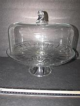CLEAR GLASS PLATE AND DOME PEDESTAL BASE PLATE 12