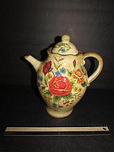 MODERN TEA POT FLORAL DESIGN, 10 1/2