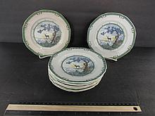 KANG-HE BY ROYAL DOULTON PLATES (10) CIRCA 1910, 61/2