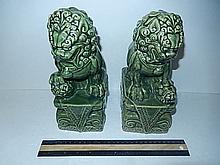 GREEN PORCELAIN FOO DOGS 10