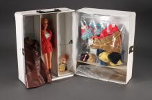 Vintage 1970's Barbie 3 Doll Trunk with Contents