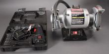 Bench Grinder and Skil Warrior Drill