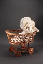 Wicker Doll Buggy