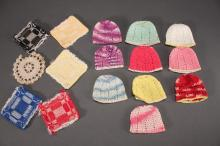 Crocheted Doll Caps and Squares