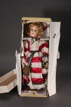 Seymour Mann Porcelain Christmas Doll