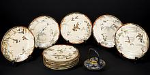 Japanese Cloisonn_ and Imari Lot