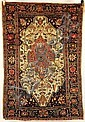Antique Sarouk Scatter Oriental Rug