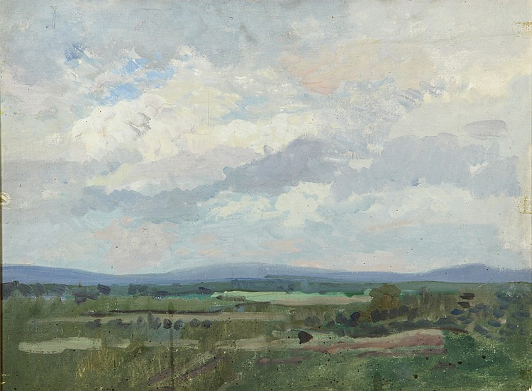 Barry Faulkner, Attributed, oil on artist board paintings of Monadnock landscape