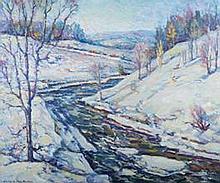 Arthur Gibbes Burton winter landscape