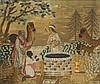 English Biblical Needlework Picture