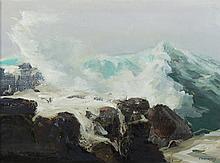 Jay H Connoway oil on canvas seascape