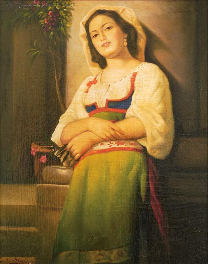 Eugene Von Blass, attributed, oil on canvas
