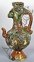 Chinese Three Color Phoenix Head Ewer