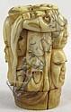 Carved Ivory Japanese Cane Handle