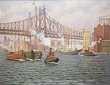 Aloysius C. O'Kelly painting of the East River