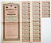 Russian Stock Certificate with most stamps intact