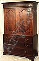 Late 18th century two part Linen Press