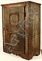 18th century Continental Paint Decorated Cupboard