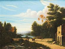 Unknown 19thC American Artist in the Manner of Thomas Cole, New York (1801- 1848)