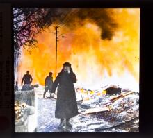 Magic Lantern Glass Slide collection- War, Fire, Disaster