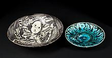 Two Persian Decorated Plates