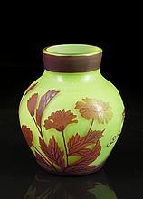 Gallé Art Glass Vase