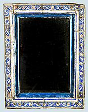A Rare Middle Eastern floral decorated ceramic frame