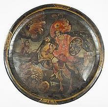 Paint Decorated Asian Tray