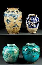 Four Persian Decorated Jars