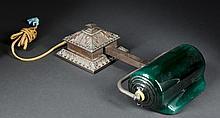Bronze Overhead Booth/Reading Lamp