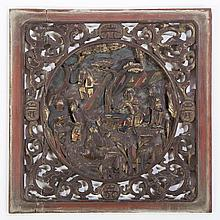 Chinese Carved Panel