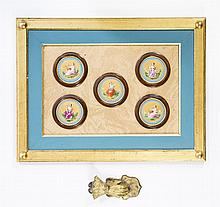 Five Hand Painted Medallions