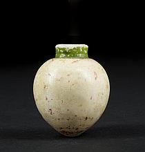 An Egyptian Alabaster Miniature Vessel