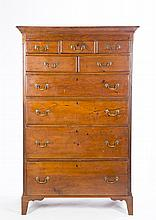 Walnut Chippendale Pennsylvania Tall Chest
