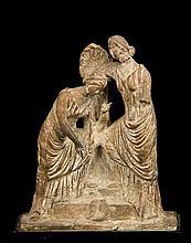Hellenistic Double Terracotta Figure