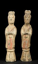 Pair of Chinese Tomb Figures