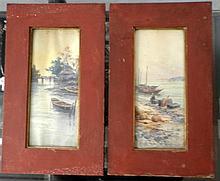 S.M.Matsumoto, boats in water reservoir