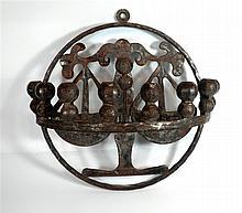 special iron Jewish hannukah menorah lamp
