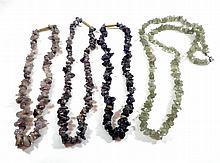 Lot 4 natural gems necklaces